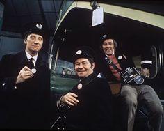 On The Buses. Image shows from L to R: Inspector Blake (Stephen Lewis), Stan Butler (Reg Varney), Jack Harper (Bob Grant). Image credit: Lon...