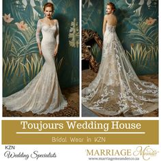 Toujours Wedding House is a beautiful wedding dress studio situated in Westville, Durban. For more info visit our website. Link in bio.
