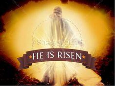 His Is Risen Sermon PowerPoint for Easter. #Sharefaith #Easter #EasterMedia #Faith #ChurchMedia