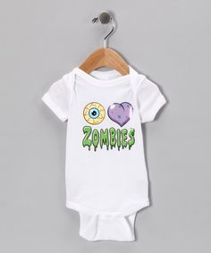 Take a look at this White 'I Love Zombies' Bodysuit - Infant by Happy Hauntings Collection on #zulily today!