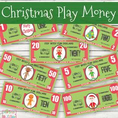 >These Christmas play money printables are perfect to play with during the holidays! Your kids will be able to open their own pretend play store with free printable play money and I guarantee these will make play even more fun! I can just see these being used to buy home made Christmas cookies or to order...Read More »