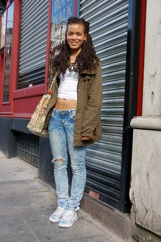 Street style...      nappyness: celebrating natural hair  http://www.tropicisleliving.com/shop/strong-roots-red-pimento-hair-growth-oil/