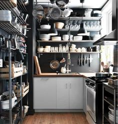 Kitchen storage out the wazoo, but it still feels organized. My kind of kitchen.