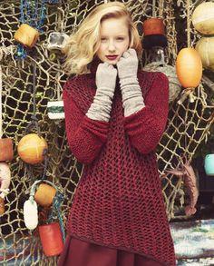 Helmut Lang sweater, M.Patmos turtleneck, Alexander Wang skirt, Barneys New York gloves