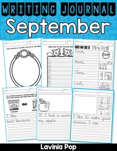 September Writing Journal - In My World Fire Drill, Common Core Reading, Kindergarten Literacy, Lists To Make, Pictures To Draw, First Grade, Markers, Encouragement, September