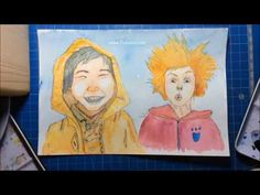 Break drawing - how to draw and paint in Watercolor (Visual Arts) by Marion Trublion Broken Drawings, Portraits, Animation, Creations, Family Guy, Painting, Watercolor, Fictional Characters, Arts Plastiques