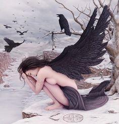 Raven Woman. Definitely Issa. #Fantasy #DarkMoonRising #AEvermore