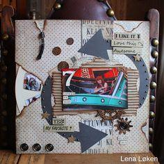 Lenas kort: Album/Skrapbook sider