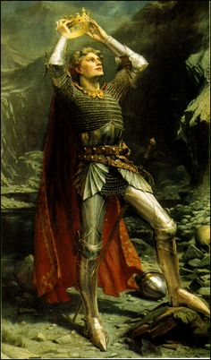 King Arthur is a legendary leader from the 5th-6th century, who defended Britain against Saxon invaders with his sword from the stone, Excalibur. Description from pinterest.com. I searched for this on bing.com/images