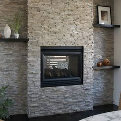 Fantastic Totally Free Brick Fireplace diy Strategies Latest Cost-Free brick Fireplace Screen Tips Modern Brick Fireplace Modern Brick Fireplace Modern Glass Fireplace Screen, Tv Above Fireplace, Slate Fireplace, Brick Fireplace Makeover, Fireplace Shelves, Fireplace Screens, Fireplace Remodel, Fireplace Mantle, Living Room With Fireplace
