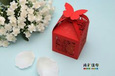 #red #box #butterfly