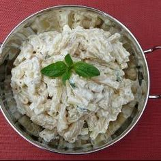 Another simple salad perfect with grilled meats or BBQ. Macaroni Pasta Salad, Mother Recipe, Grilled Meat, Easy Salads, Mayonnaise, Allrecipes, Serving Bowls, Bbq, Vegetarian