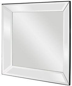 "Vogue Mirrored Frame Mirror 30""x30""x3"""