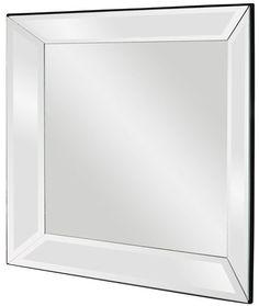 """Vogue Mirrored Frame Mirror 30""""x30""""x3"""""""