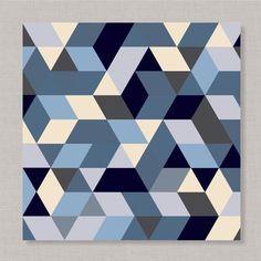 poster Triangulóides geometricos geometrics pôster triangulos
