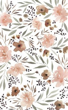 Iphone Background Wallpaper, Aesthetic Iphone Wallpaper, Aesthetic Wallpapers, Image Deco, Watercolor Wallpaper, Floral Print Wallpaper, Wallpaper Art, Floral Prints, Art Prints