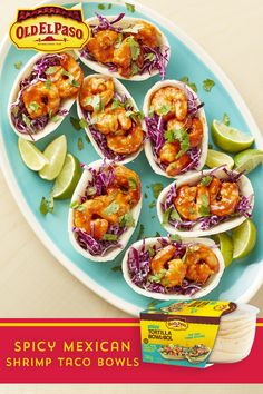 Fresh, bright, sweet and hot – these taco bowls are everything you love about a shrimp taco packed into a bowl! Fish Recipes, Seafood Recipes, Mexican Food Recipes, Dinner Recipes, Vegetarian Recipes Easy, Cooking Recipes, Healthy Recipes, Shrimp Dishes, Shrimp Tacos
