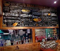 Pizarra restaurante La venganza de Malinche