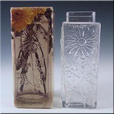 Dartington/Frank Thrower Glass Marguerite Vase FT228 - Boxed - £19.99