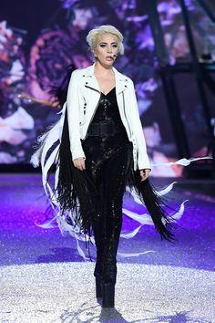 Lady Gaga at the Victoria\'s Secret Fashion Show 2016.
