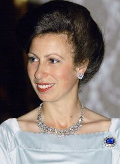 Princess Anne Attending A Banquet In Dubai During A Royal Tour.