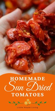 Looking for a ridiculously delicious way to use and preserve all the cherry tomatoes from your garden? You've got to try these Sun Dried Tomatoes! Make Sun Dried Tomatoes, Cherry Tomatoes, Dehydrated Food, Vegetable Recipes, Vegetarian Recipes, Canning Recipes, Food Menu, Diy Food, Recipe Using