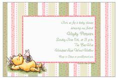 Winnie the Pooh shower invite