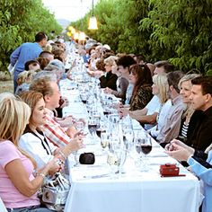 Schnepf Farms in Queen Creek, Arizona offers Dinners Down the Orchard, four-course meals by local chefs in the middle of Schnepf's organic groves.