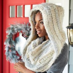 Michaels - Isaac Mizrahi® CRAFT™ Central Park Hooded Crochet Cowl - free                                                                                                                                                      More