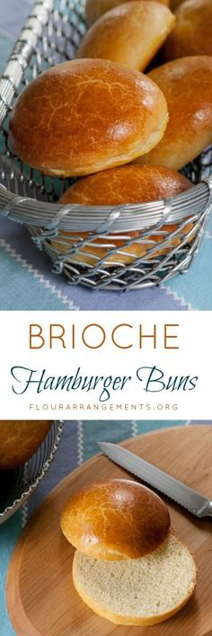 Personalized Graduation Gifts - Ideas To Pick Low Cost Graduation Offers Take Your Burgers To The Next Level With Brioche Hamburger Buns. Their Flaky, Tender Texture And Rich, Buttery Flavor Make Baking This Recipe Well Worth The Effort. Bread Machine Recipes, Bread Recipes, Baking Recipes, Sandwich Buns Recipe, Bread Bun, Bread Rolls, Rye Bread, Sourdough Bread, Hamburger Buns