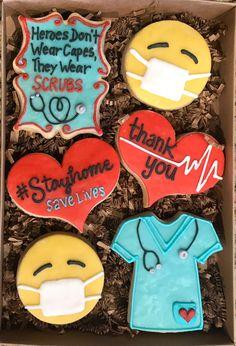 / Coronavirus: Dr Doctor, nurse, medical technician, medical / hospital staff, etc. THANK YOU cookies! Thank You Cake, Thank You Cookies, Cut Out Cookies, Yummy Cookies, Thank You Gifts, Cupcake Cookies, Sugar Cookies, Baby Cookies, Flower Cookies