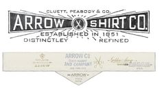 Arrow and Cluett Labels and Packaging | Abduzeedo Design Inspiration