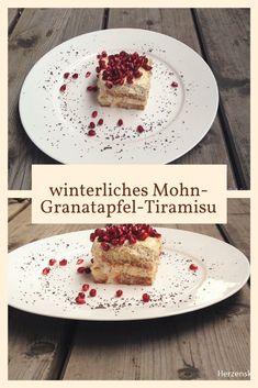 winterliches Mohn-Granatapfel-Tiramisu #tiramisu #mohntiramisu #dessert