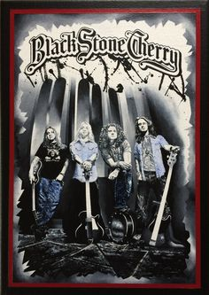 Black Stone Cherry by AcrylicDetail on Etsy