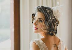 Voilette: acessório ousado para noivas descoladas
