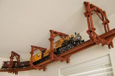 How To Make A Toy Train Track Suspended From A Ceiling