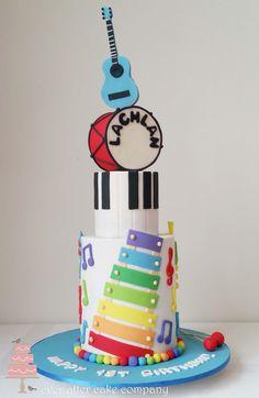 Beautiful Image of Toddler Birthday Cakes - birthday Cake Ideen Diva Birthday Cakes, Toddler Birthday Cakes, Music Theme Birthday, 1st Boy Birthday, Birthday Party Themes, Music Themed Cakes, Music Cakes, Music Themed Parties, Kids Party Music