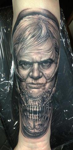 Giger Tattoo by Bob Tyrrell