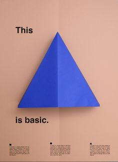 Swiss Design / thisisbasic_posters_triangle