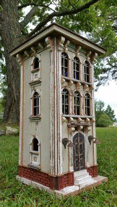 Brownstone birdhouse creation.