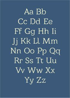 Form: Serif, rounded egdes. - Capitals and Lowercase. -Legible at any capable size. Consistent where as all cross bars are levelled and all letters are the same weight.