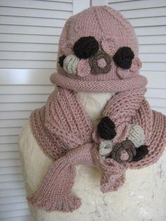 47c38ac98 Handknitt hat and scarf cowl wrap shawl by Suzann61 on Etsy Háčkovanie Pre  Bábätká, Zvieratá