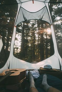 Love waking up in the morning while camping, the morning smells so sweet and fresh and the birds so chipper and happy.