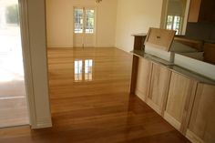 Beautiful sanded and polished timber floor for a newly renovated home living room.