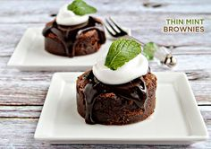 Trend Alert: Girl Scout Cookies Into Designer Desserts! Thin Mint Brownies by My Baking Addiction