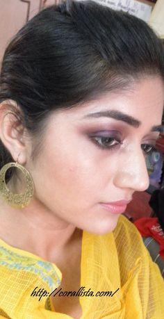 Purple & gold smoky eye tutorial