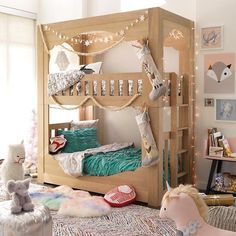 The Land of Nod's Terrace Bunk Bed was designed with style from top to bottom.  The scalloped detail adds a touch of playfulness to the elegant design.  And the sturdy construction means it'll last for years to come.
