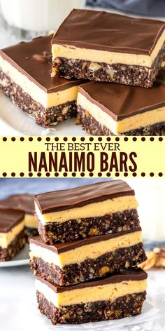 Classic no bake nainamo bars with a chocolate coconut base custard buttercream filling and a layer of chocolate on top learn how to make this iconic canadian dessert nanaimobars classic easy canadian food and drink icon set ad iconsblackcoloredfeatures ad Nanaimo Bars, Köstliche Desserts, Delicious Desserts, Dessert Recipes, Easy Dessert Bars, Coconut Desserts, Custard Desserts, Plated Desserts, Cheesecake Recipes
