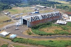 Oregon's Tillamook Air Museum, housed in Hanger B, a former military dirigible hangar, the largest clear-span wooden structure in the world. Photo courtesy of the Tillamook Air Museum.