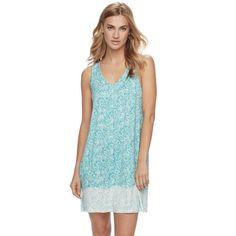 Women's Apt. 9® Pajamas: Lace Back Chemise, Turquoise/Blue (Turq/Aqua)